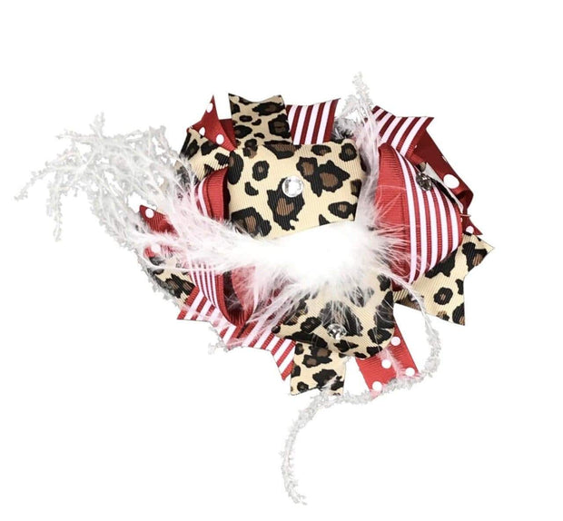 ILTEX Apparel Accessory Bow - Stripe Cheetah