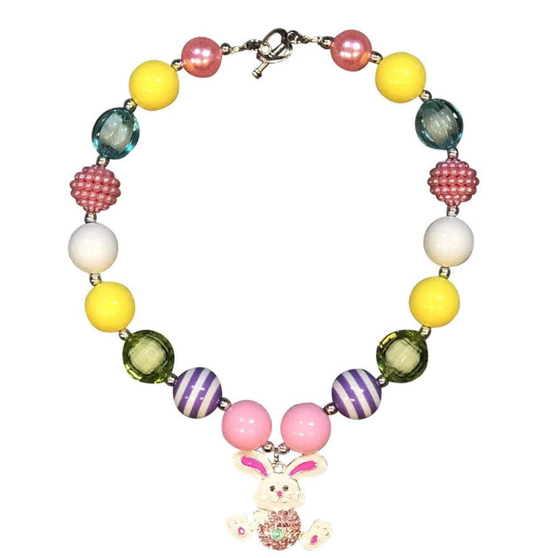 ILTEX Apparel Accessory Bubblegum Necklace - Easter Bunny Yellow
