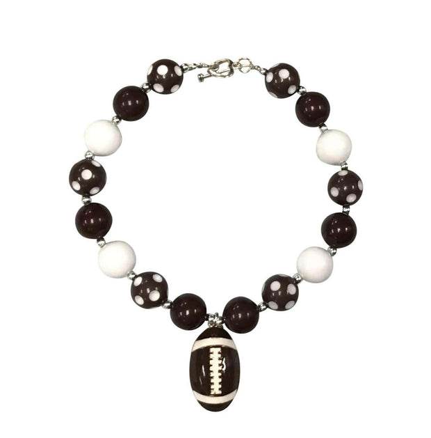 ILTEX Apparel Accessory Bubblegum Necklace - Football Brown
