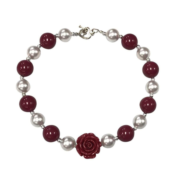 ILTEX Apparel Accessory Bubblegum Necklace - Rose Maroon