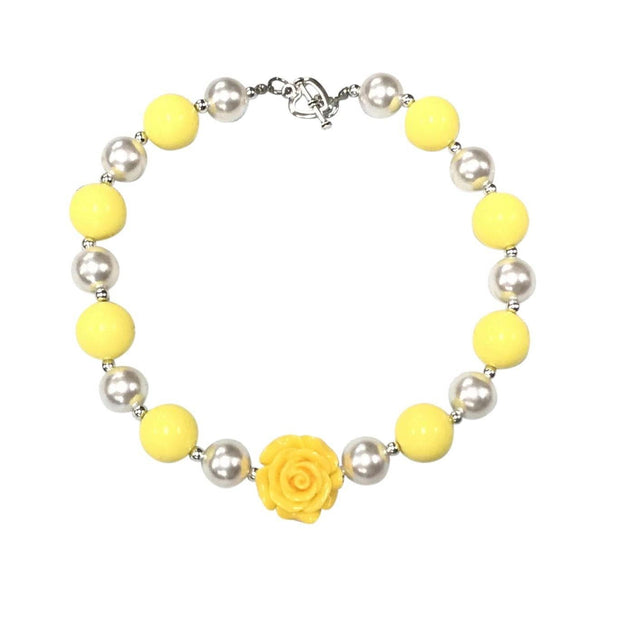 ILTEX Apparel Accessory Bubblegum Necklace - Rose Yellow