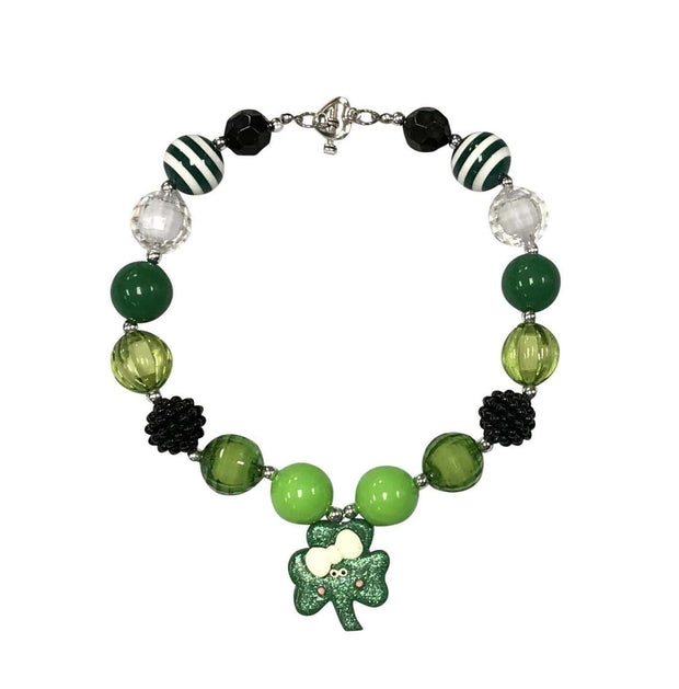 ILTEX Apparel Accessory Bubblegum Necklace - St. Patrick's Green