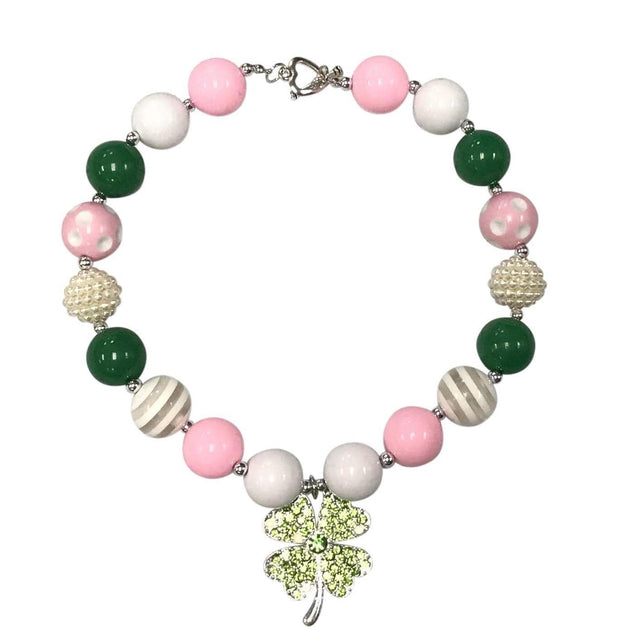 ILTEX Apparel Accessory Bubblegum Necklace - St. Patrick's Pink