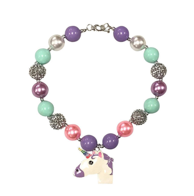 ILTEX Apparel Accessory Bubblegum Necklace - Unicorn Purple Green