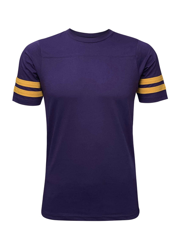 ILTEX Apparel Adult Clothing 2 Stripes Jersey T-Shirt - Purple and Gold