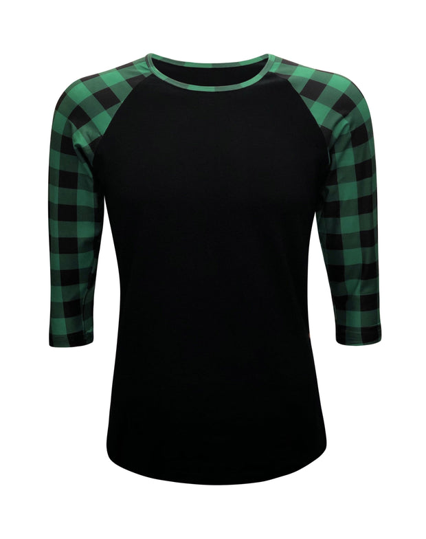 ILTEX Apparel Adult Clothing Buffalo Black Green Plaid Top