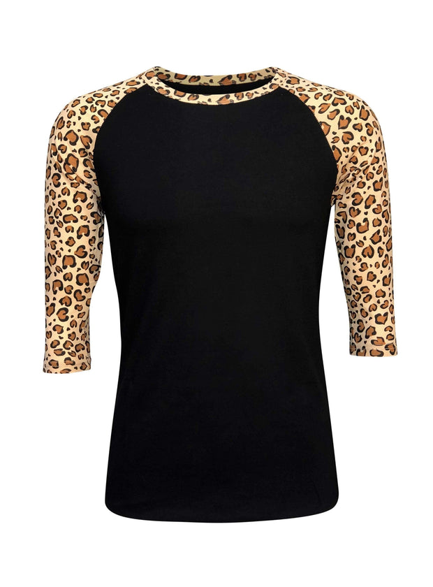 ILTEX Apparel Adult Clothing Cheetah Black Light Brown Top