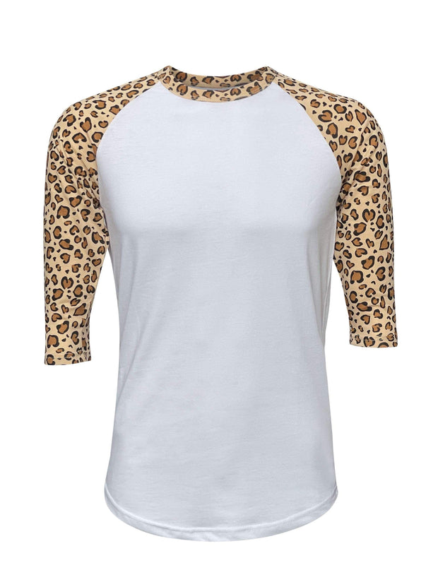 ILTEX Apparel Adult Clothing Cheetah Leopard Print White Top