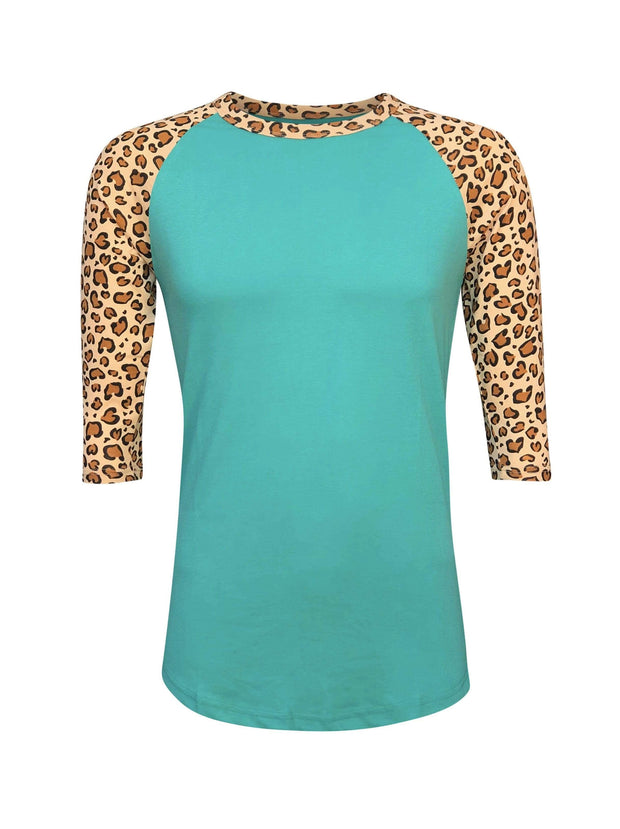ILTEX Apparel Adult Clothing Cheetah Tiffany Light Brown Top