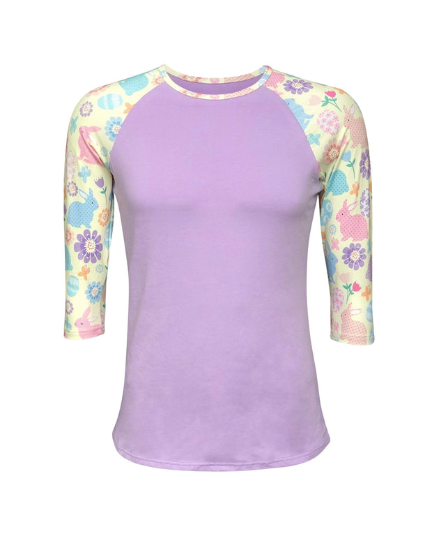 ILTEX Apparel Adult Clothing Easter Lavender Bunny Top