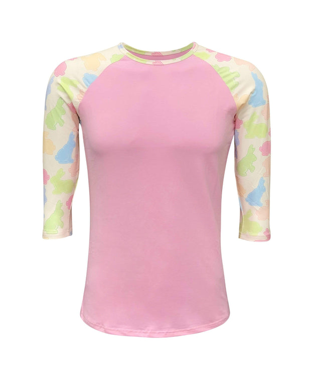 ILTEX Apparel Adult Clothing Easter Pink Bunny Top