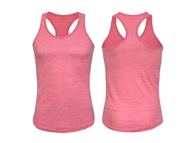 ILTEX Apparel Adult Clothing Pink / Small Racerback Heather Tank Top