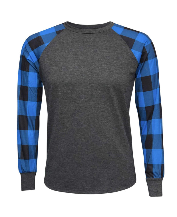 ILTEX Apparel Adult Clothing Plaid Blue Long Sleeves Polyester