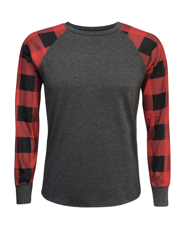 ILTEX Apparel Adult Clothing Plaid Red Long Sleeves Polyester