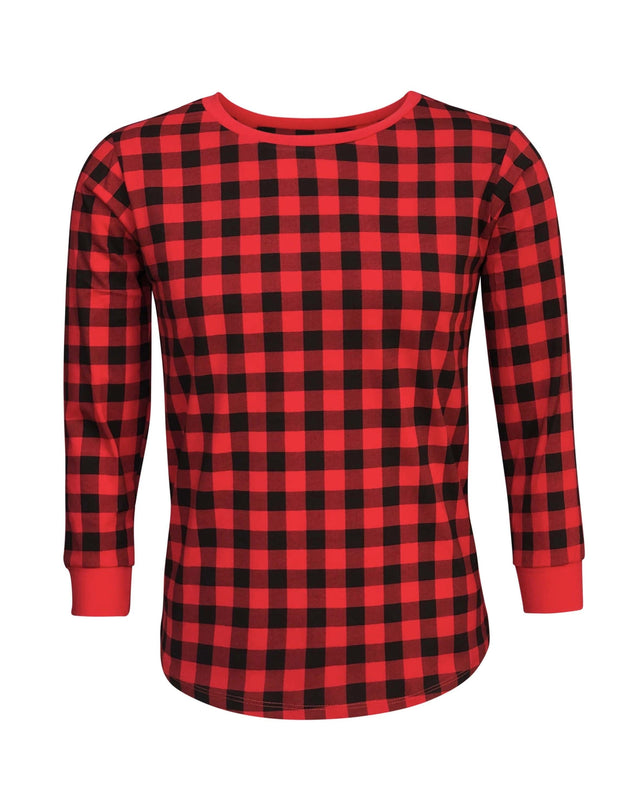 ILTEX Apparel Adult Clothing Plaid Red Sweatshirt