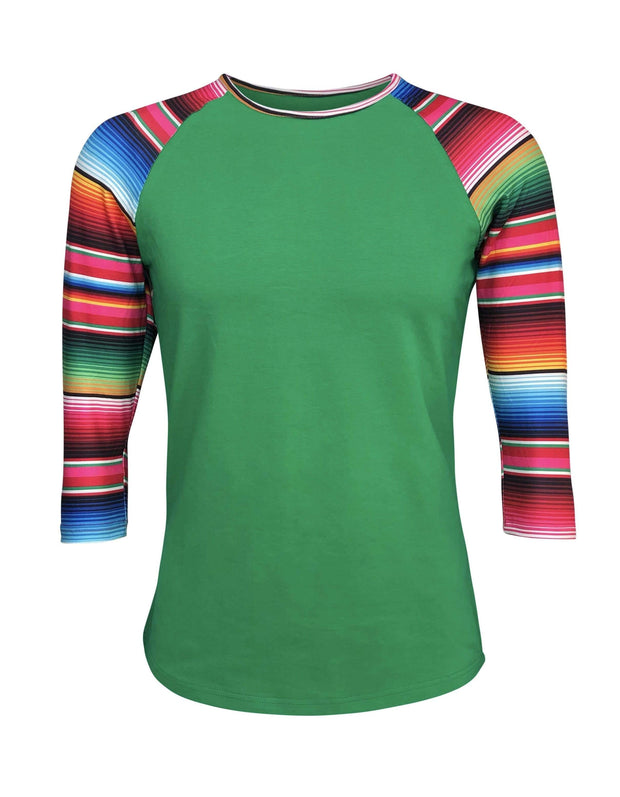 ILTEX Apparel Adult Clothing Serape Green Top