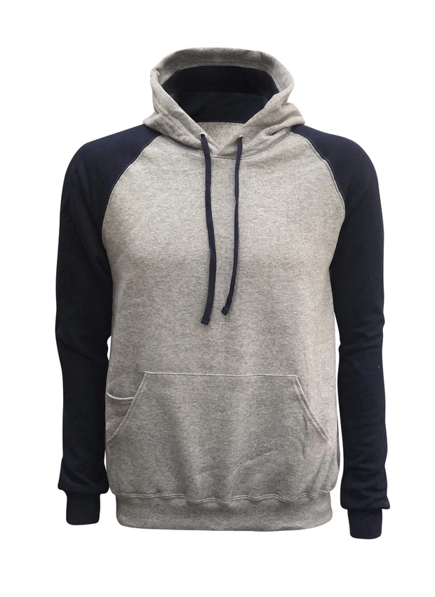ILTEX Apparel Adult Clothing Small / Gray/Navy Pullover Raglan Hoodie