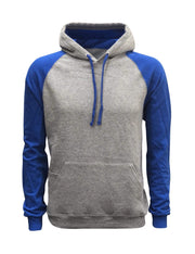 ILTEX Apparel Adult Clothing Small / Gray/Royal Blue Pullover Raglan Hoodie