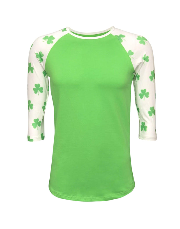 ILTEX Apparel Adult Clothing St. Patricks Green Shamrock Top