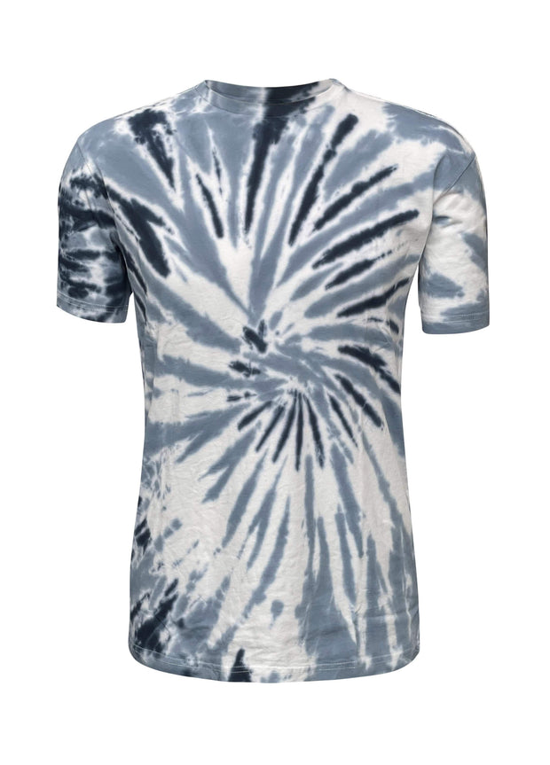 ILTEX Apparel Adult Clothing Tie Dye Blue Spider T-Shirt