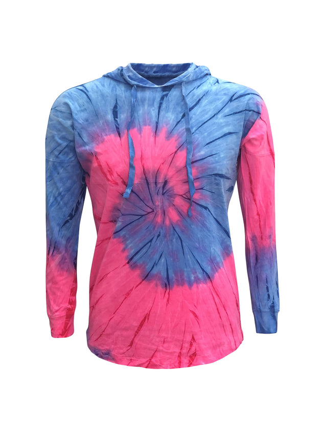 ILTEX Apparel Adult Clothing Tie Dye Pink Blue Hoodie Adult