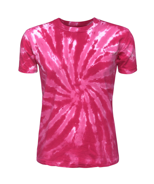 ILTEX Apparel Adult Clothing Tie Dye Pink Swirl T-Shirt