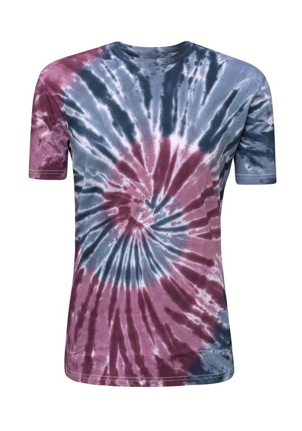 ILTEX Apparel Adult Clothing Tie Dye Purple Blue Spider T-Shirt