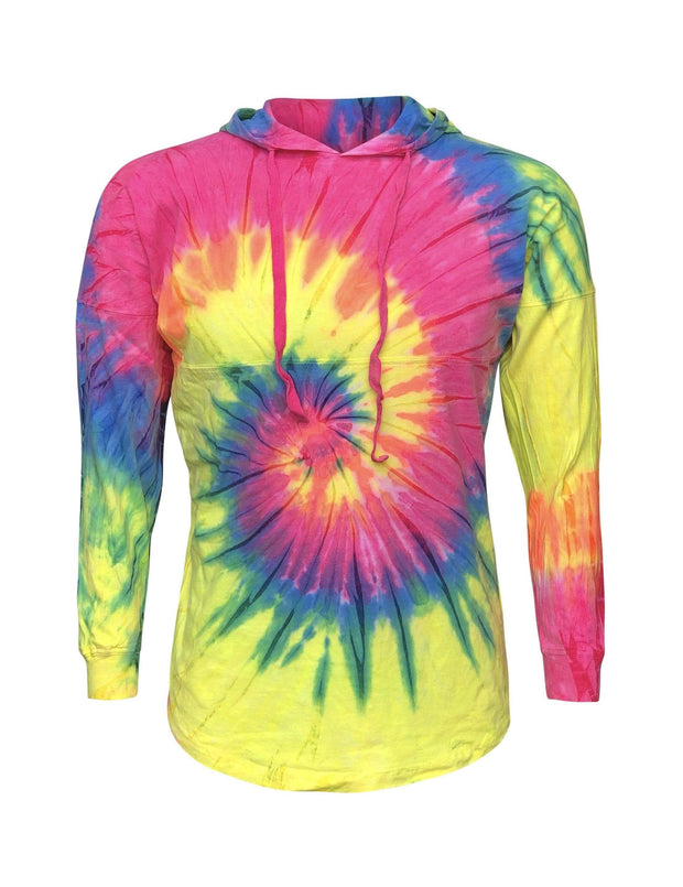 ILTEX Apparel Adult Clothing Tie Dye Rainbow Hoodie Adult