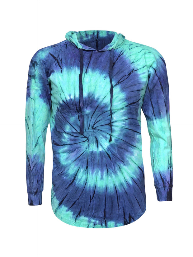 ILTEX Apparel Adult Clothing Tie Dye Seafoam Navy Hoodie Adult