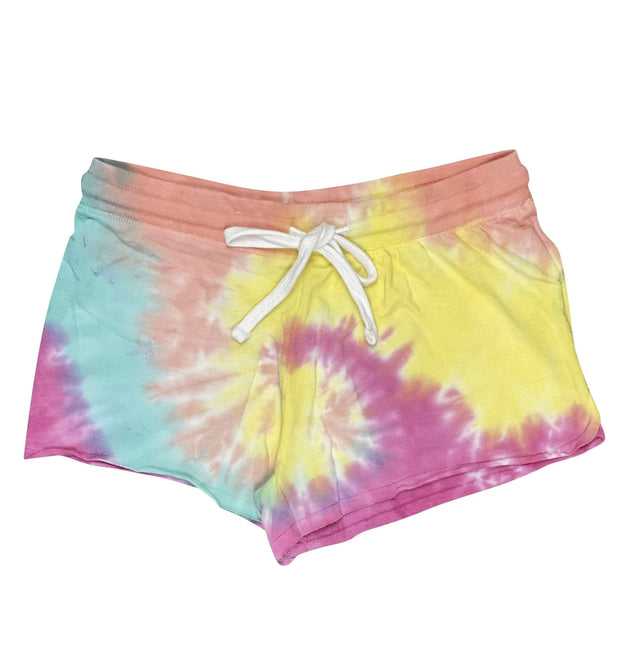 ILTEX Apparel Adult Clothing Tie Dye Shorts Magenta Mint - Adult