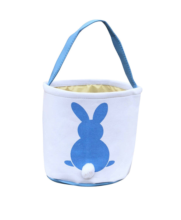 ILTEX Apparel Blue Easter Bunny Cotton Tail Basket