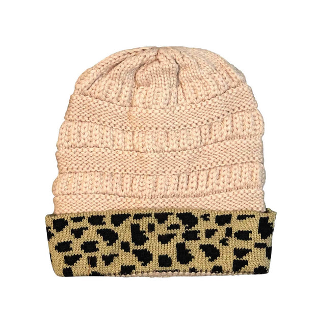 ILTEX Apparel Cheetah Beige Beanie
