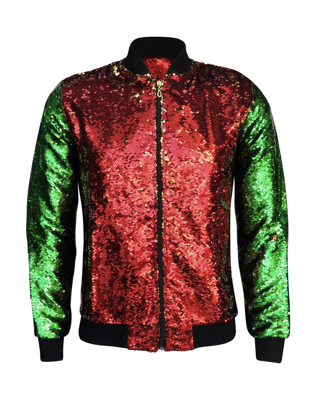 ILTEX Apparel Christmas Sequin Bomber Jacket