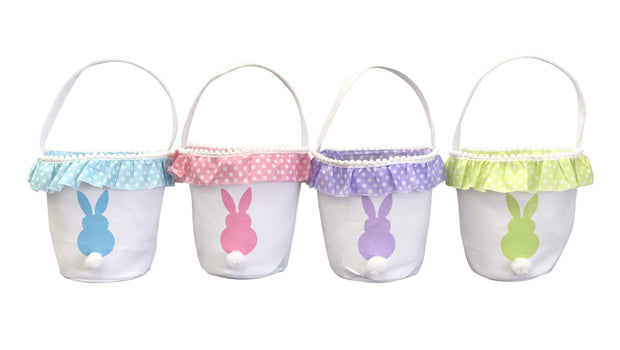 ILTEX Apparel Easter Bunny Frill Cotton Tail Basket
