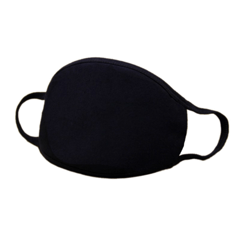 ILTEX Apparel Flat Cotton Face Mask Black