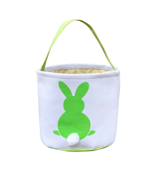 ILTEX Apparel Green Easter Bunny Cotton Tail Basket