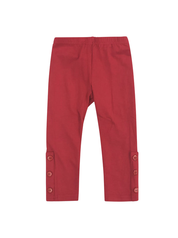 ILTEX Apparel Kids Clothing 2-3 years / Red Kids Long Pants with Ankle Buttons