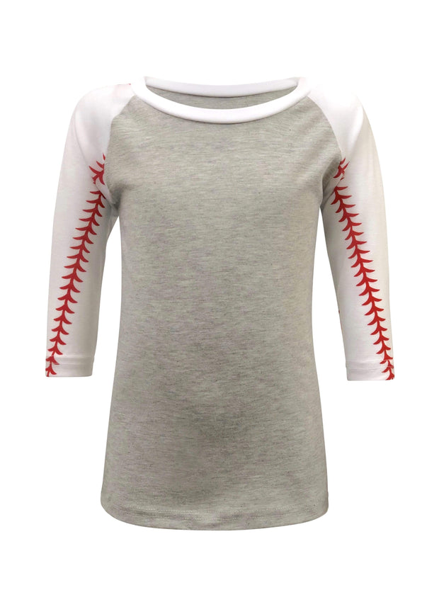 ILTEX Apparel Kids Clothing 2T / Gray/White Baseball Sleeve Raglan Kids
