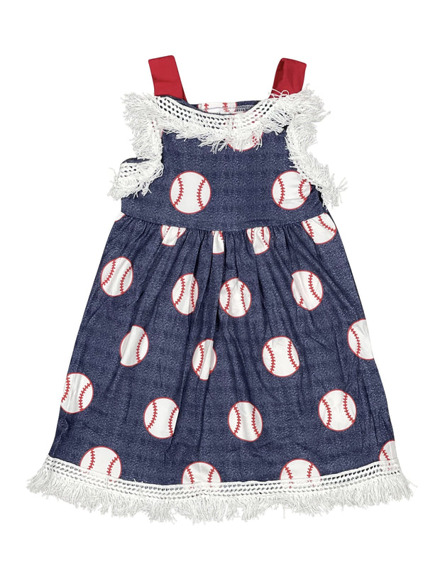 ILTEX Apparel Kids Clothing Baseball Blue Tassel Dress Kids
