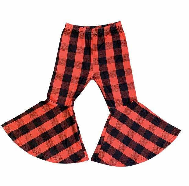 ILTEX Apparel Kids Clothing Bell Bottom Red Plaid Pants