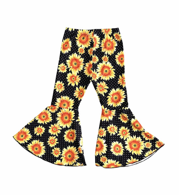 ILTEX Apparel Kids Clothing Bell Bottom Sunflower Pants
