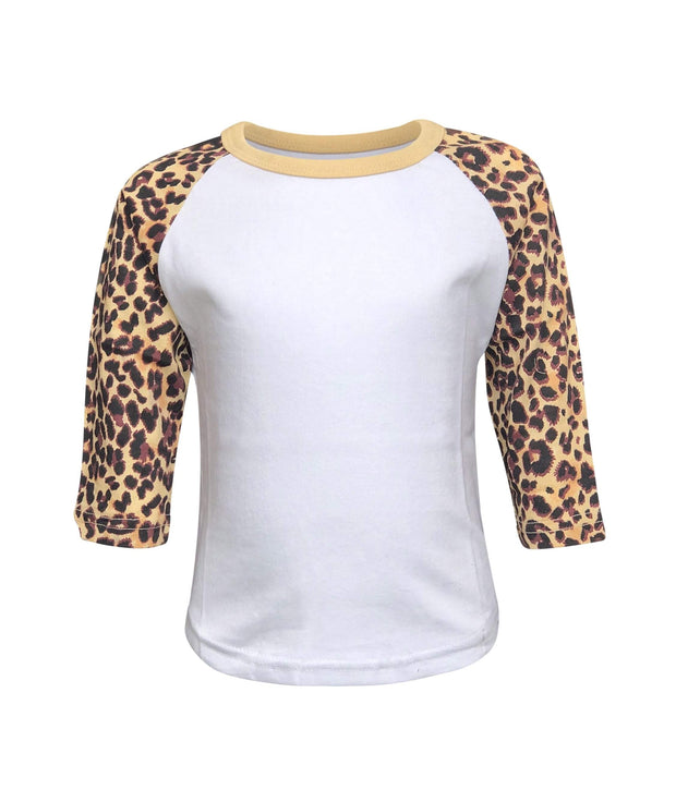 ILTEX Apparel Kids Clothing Cheetah Raglan White/Cheetah Kids