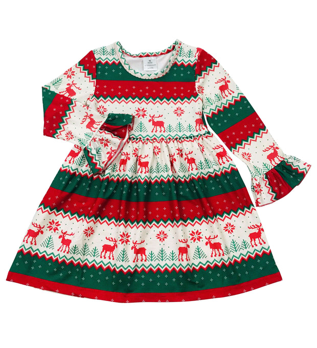 ILTEX Apparel Kids Clothing Christmas Reindeer Dress Kids