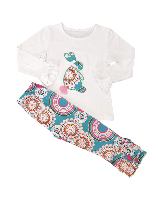 ILTEX Apparel Kids Clothing Easter Bunny Printed White Set Kids