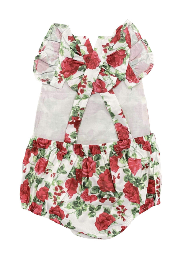 ILTEX Apparel Kids Clothing Floral Rose Red Onesie