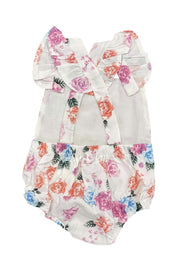 ILTEX Apparel Kids Clothing Floral White Multi Onesie
