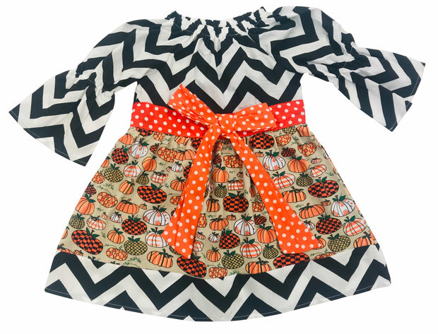ILTEX Apparel Kids Clothing Halloween Dress Chevron Kids