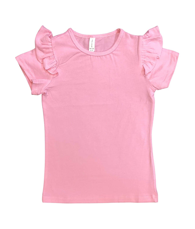 ILTEX Apparel Kids Clothing Pink / 1-2 years Ruffle Short Sleeve Top Kids
