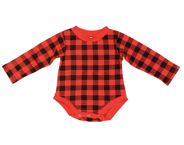 ILTEX Apparel Kids Clothing Plaid Red Toddler Onesie