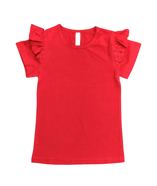ILTEX Apparel Kids Clothing Red / 1-2 years Ruffle Short Sleeve Top Kids